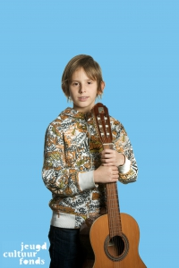 Muziekles bij het Gitaar Instituut Friesland via het Jeugdcultuurfonds Friesland.